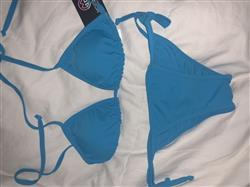 Moda Glam Boutique 'Tyra' Sliding Triangle Bikini Top- Turquoise Review