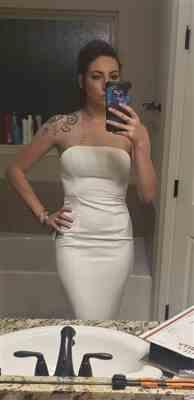 Meghan Gaspard verified customer review of Abyss by Abby Cavalli Gown-White