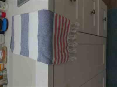 Audrey Holt verified customer review of Multicolor Stripe Turkish Hand / Kitchen Towel