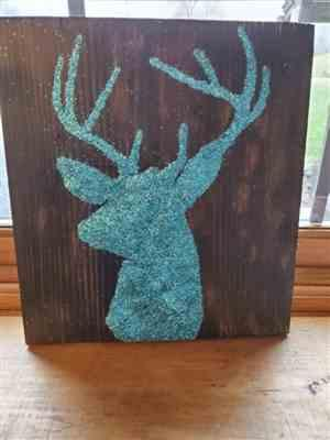Frankie Chamberlin verified customer review of Buffalo Check (Plaid) & Deer Head Silhouette | Sign Stencil (2 Pack)