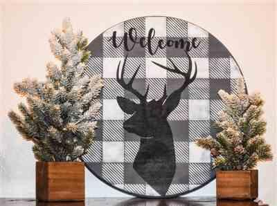 Junk and Craft Treasures verified customer review of Buffalo Check (Plaid) & Deer Head Silhouette | Sign Stencil (2 Pack)