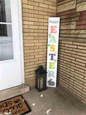Tammy N. verified customer review of Vertical Happy Easter Stencil