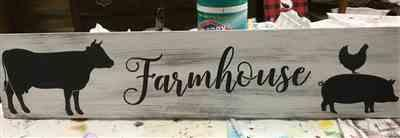 Sherry Crumbaker verified customer review of Farmhouse Sign Stencil (4 Pack)