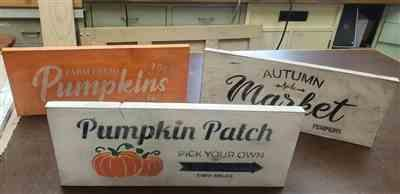 Lynette W. verified customer review of Pumpkin Patch Sign Stencils (3 Pack)