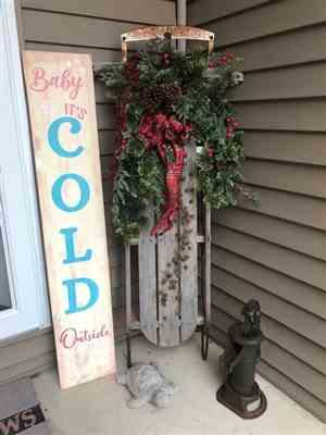 Jody B verified customer review of Baby It's Cold Outside 4ft Vertical Stencil