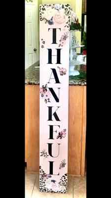 Sally Trobaugh-Neveu verified customer review of Grateful, Thankful, Blessed Vertical Fall Stencil