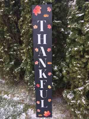 piecesbyparrott verified customer review of Grateful, Thankful, Blessed Vertical Fall Stencil