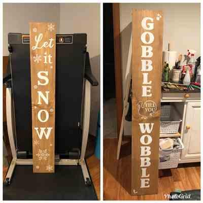 Sharon Knudsen verified customer review of Gobble 'Till You Wobble Vertical Fall Stencil