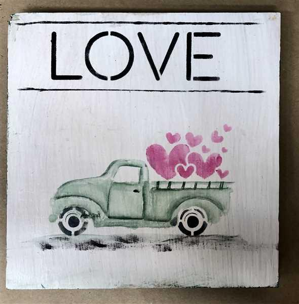 Tammy Muto verified customer review of Valentine's Truck Mini Tag Stencil Set (3 Pack)