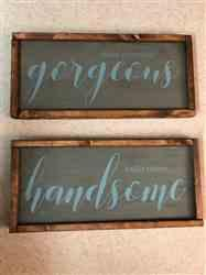 Samantha verified customer review of Good Morning Gorgeous + Hello There Handsome Stencil Set