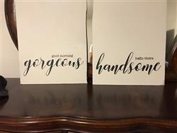 Sterling verified customer review of Good Morning Gorgeous + Hello There Handsome Stencil Set