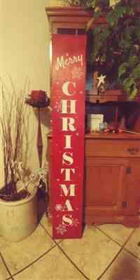 Debbie Berry verified customer review of Vertical Merry Christmas Stencil