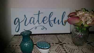Carmel De Luca  verified customer review of Grateful, Thankful, Blessed Stencil Set