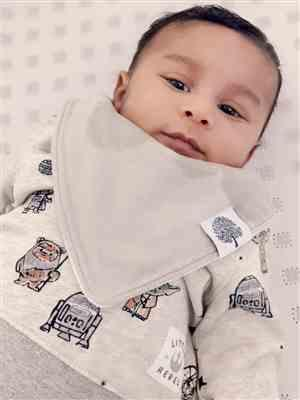 Melissa B verified customer review of Lumberjack Bandana Bib Set
