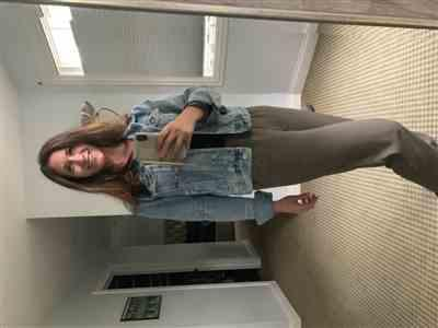 Melissa S. verified customer review of Free People Rumors Denim Jacket