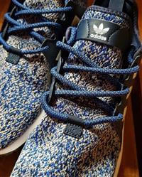 John K. verified customer review of Black and Blue Rope Laces