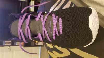 Trevor verified customer review of Purple 3M Reflective Flat Laces