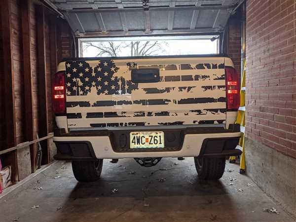 Lance verified customer review of DISTRESSED FLAG TAILGATE DECAL