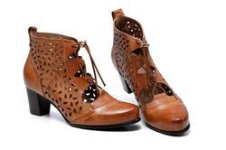 Anonymous verified customer review of Shae Perforated Flat Heel Ankle Women Leather Boots - Brown