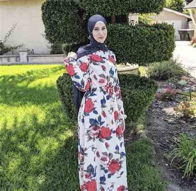 Iman Alkam verified customer review of Red Floral Drawstring Maxi Dress-CLEARANCE