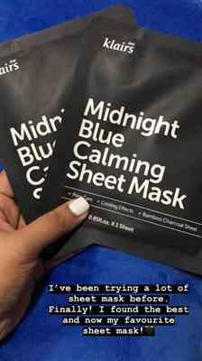 Fatima C. verified customer review of Midnight Blue Calming Sheet Mask