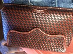 The Western Company 3D Tan Leather Smartphone Holder Basketweave Contrast Stitching Review