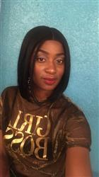 Renata S. verified customer review of Bobbi Boss Lyna Sleek MLF 217 Synthetic Lace Front Wig