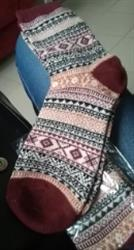 Roberta Gross verified customer review of Cozy Striped Winter Wool Socks Set