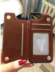 Elaine Williams verified customer review of Faux Luxury Leather Wallet iPhone Case- iPhone X Case/iPhone 8 Case/ iPhone 8 Plus Case/iPhone 7 Plus Case/ iPhone 7 Case,