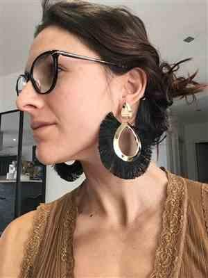 Ann Walraven verified customer review of Bohemian Chic Tassel Fringe Fan Earrings