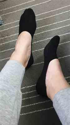 Samantha Stanley verified customer review of Breathable and Comfortable Non-slip Low Cut Ped Socks