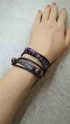 Gayle Hoffman verified customer review of Woven Leather and Rope Bracelet Set