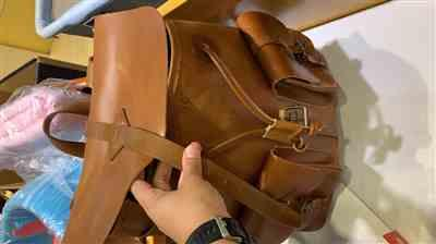 Nor Anisah Ashifah Othman verified customer review of Leather Rucksack Backpack