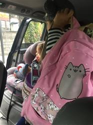 Tessie D. verified customer review of Cute Pusheen Cat Backpack w/ Flowers (17)