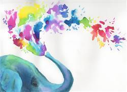 Let's Make Art Rainbow Elephant Watercolor Kit Review
