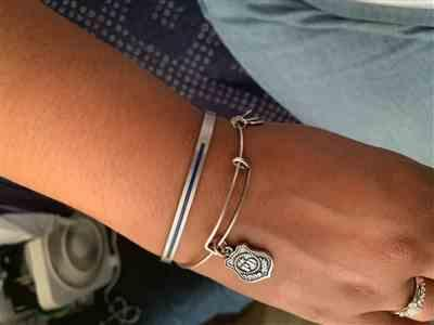 Naomi T. verified customer review of Police Hero CharityBand (BOLD)