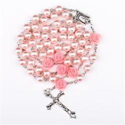 Michele D. verified customer review of Angel Pink Pearl Rose Rosary