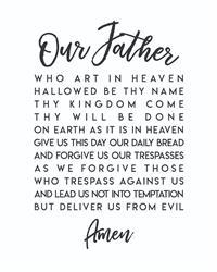 Christian Catholic Shop FREE Our Father Prayer INSTANT DOWNLOAD Printable Wall Art Review