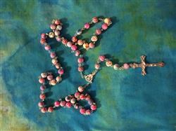 Karen M. verified customer review of Beautiful Catholic Colorful Rosary With FREE Velvet Pouch