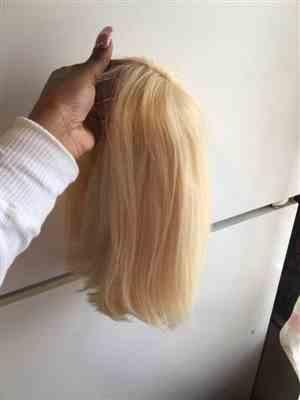 Bonniqueca  verified customer review of #613 Blonde Bob Wig Transparent Lace Front Wig/ Full Lace Wig Shela Hair
