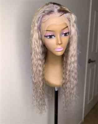 Joyce Adu verified customer review of Transparent Lace Front Wig Deep Wave 180% 200% High Density #613 Blonde Wigs Shela Hair