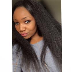David Jancso verified customer review of Lace Front Wig Kinky Straight 150% Density Shela Hair