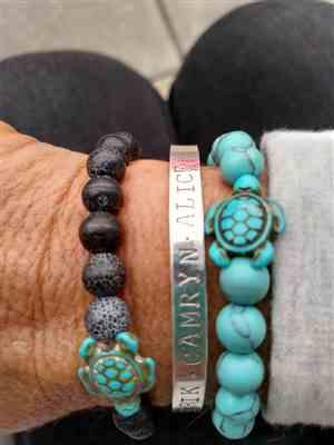 Elizabeth McGuire verified customer review of LIMITED EDITION - Pink Sea Turtle Bracelet