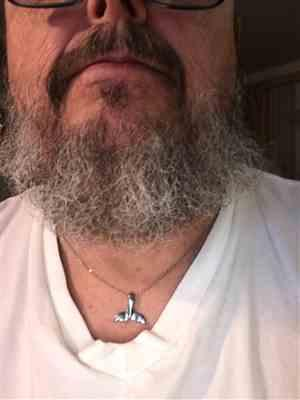 David T. verified customer review of Whale Tail Necklace