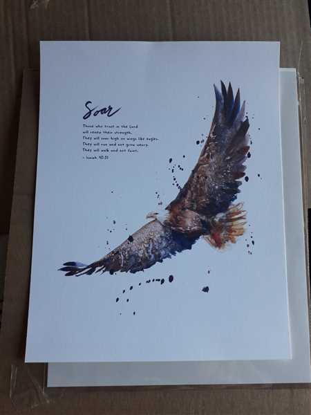 Inês Fernandes verified customer review of Soar On Wings Like Eagles - Isaiah 40:31