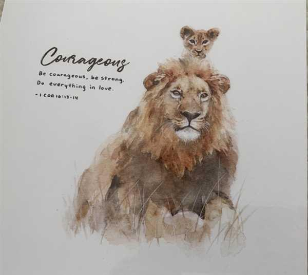 God's fingerprints Lion & Cub - 1 Corinthians 16:13-14 Review