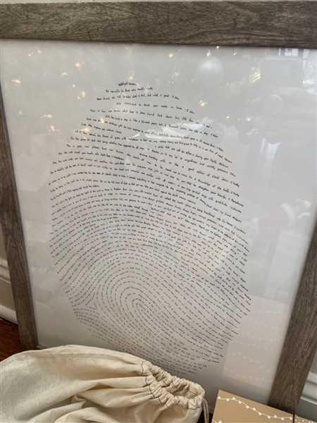 Alicia Wechsler verified customer review of 16x20 God's Fingerprint Letterpress