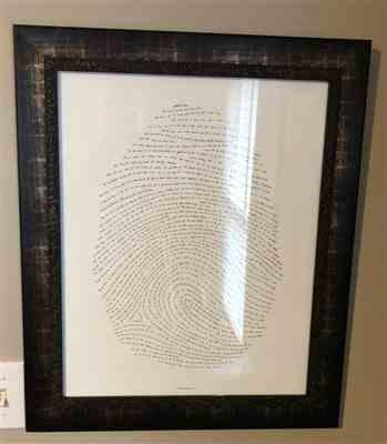 Wendi Kay verified customer review of 16x20 God's Fingerprint Letterpress