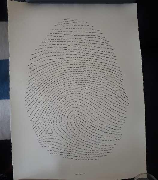 God's fingerprints 18x24 God's Fingerprint Screenprint Review