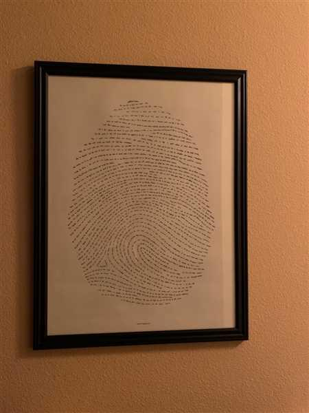 Nancy Simmons verified customer review of 18x24 God's Fingerprint Screenprint